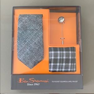 Ben Sherman Pocket Square, Tie and Lapel Pin